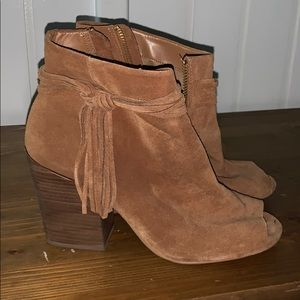 Suede Steve Madden Open Toe Boots